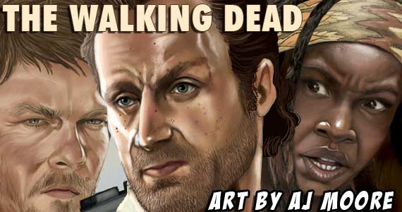 Walking Dead Fan Art by AJ Moore