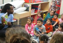 Reading Dorse & Doose to the children at SAC Early Childhood Center